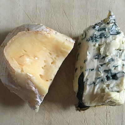 A tasting of locally-made cheeses