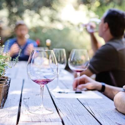 Enjoying a wine tasting in Sonoma