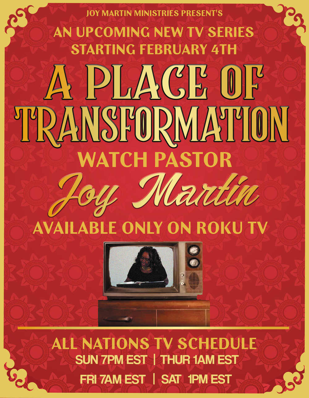 If you do not have ROKU..no worries...you can download the app All Nations TV or go to  allnationstv.com  and watch the live broadcast.