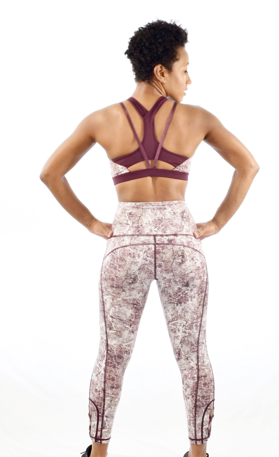 Marble Print Activewear Set - $45