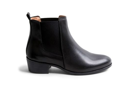 Steve Madden-Dover Black Leather Bootie