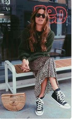 Leopard Skirt -