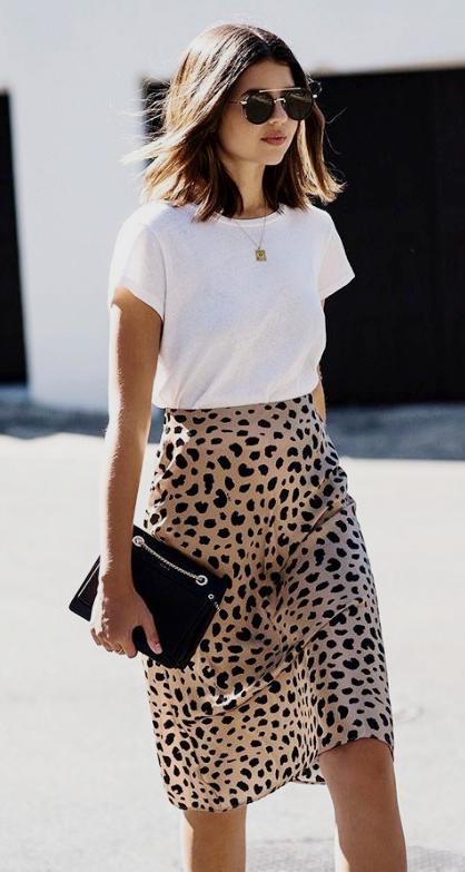 Print Skirt -