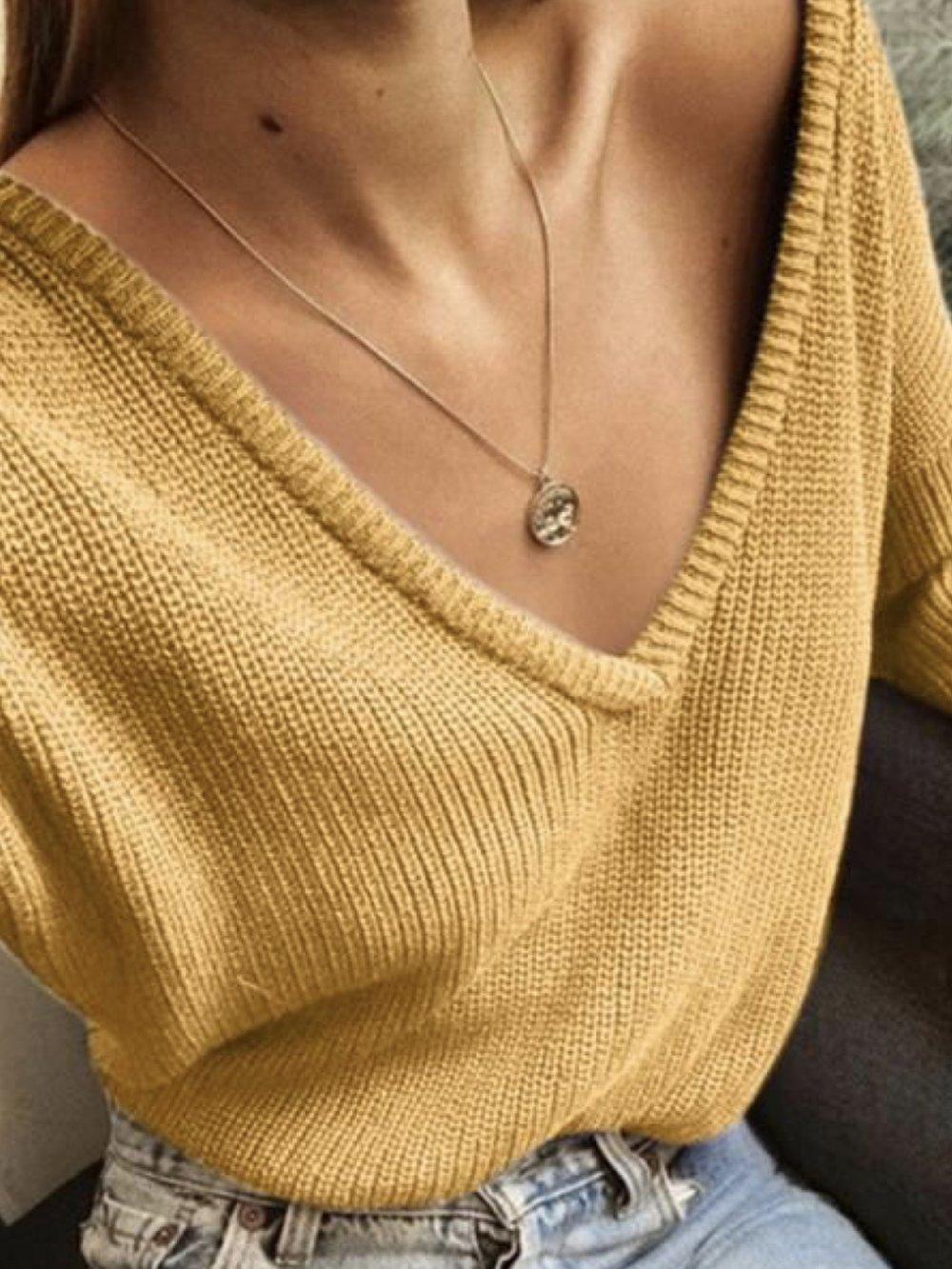 V-Neck Sweater -