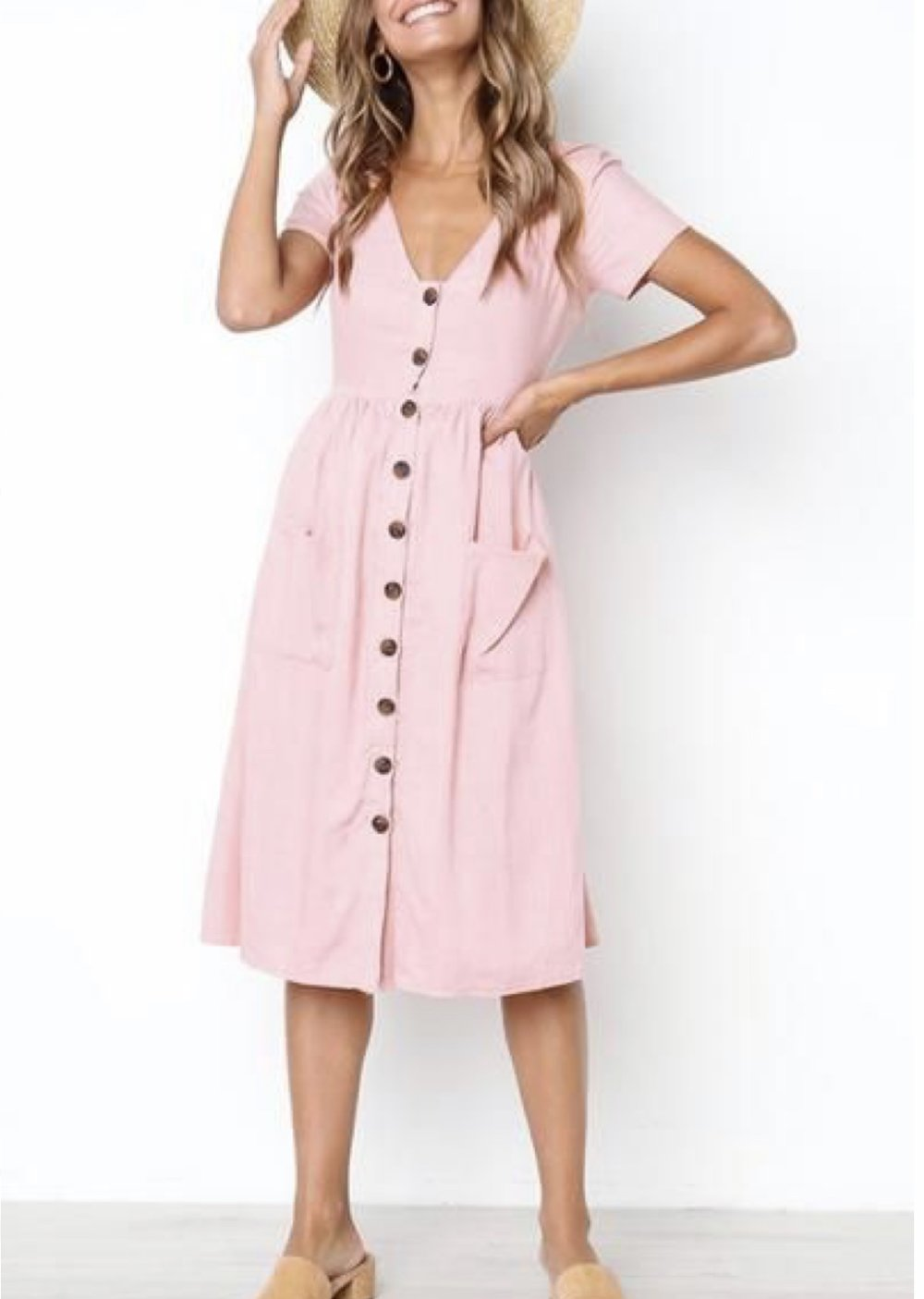 Button down dress -