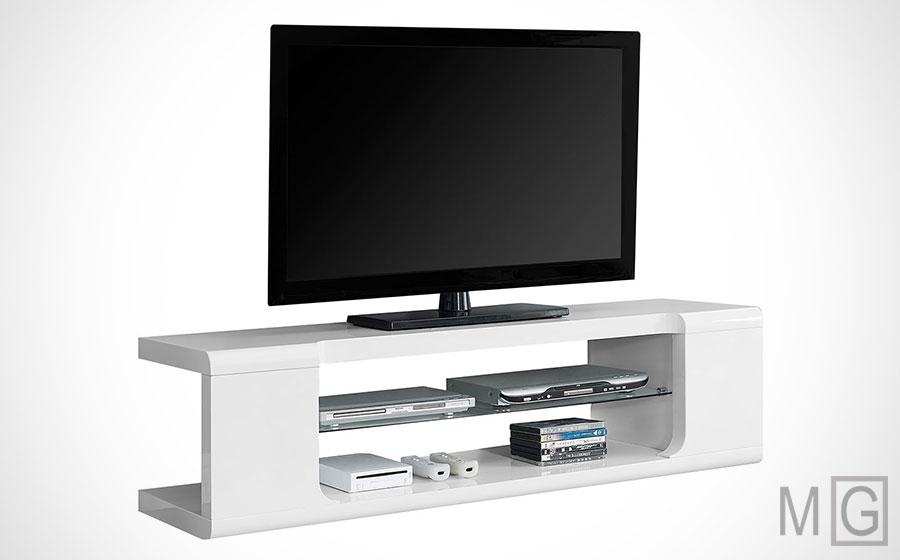 Monarch Specialties white modern tv stand - cheap modern tv stands - minimalistguy.net