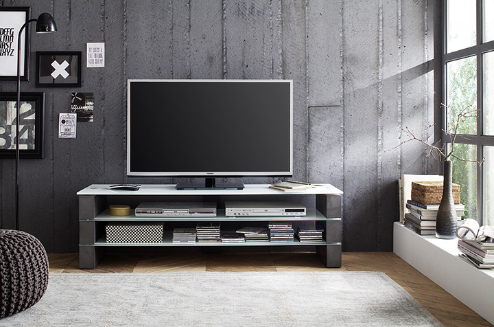 Olivia Concrete TV Stand