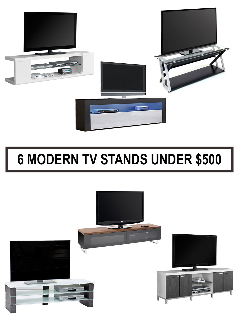 Best Modern TV Stands Under $500 | Minimalist Home Furniture For Less