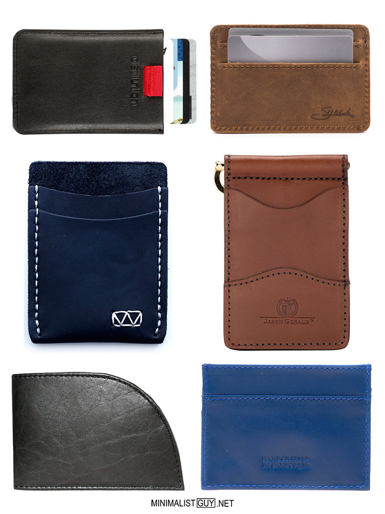 Made in usa 6 front pocket leather minimalist wallets for Minimalist house in usa