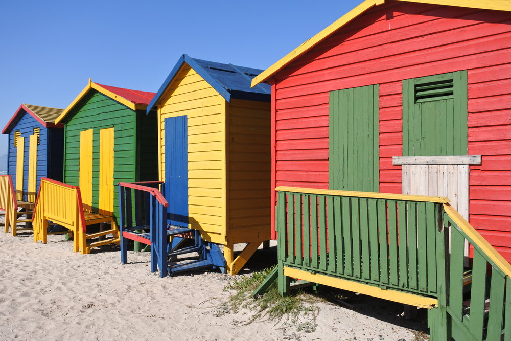 Beach Houses at Muizenberg