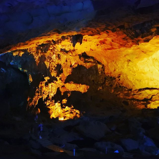 We went to a cave yesterday! Can you spot the Lion in his den? 🦁 #careerlionsinasia #travel #cave #vietnam