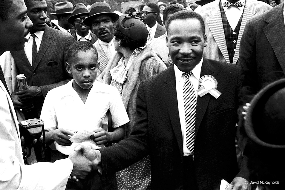 Martin Luther King Jr. after his speech at the May 17, 1957, Prayer Pilgrimage in Washington, DC. (More photos in Special Events section)