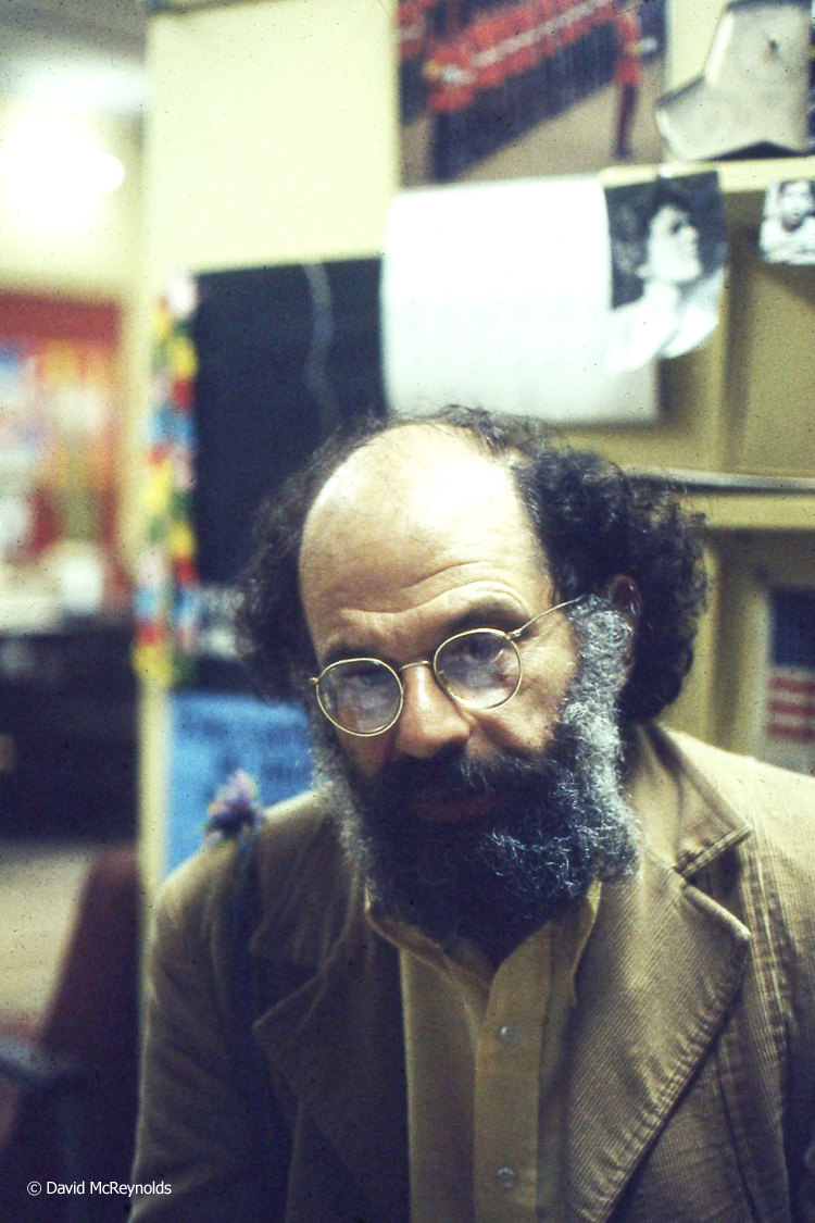 Allen Ginsberg in WRL office, May 1978.