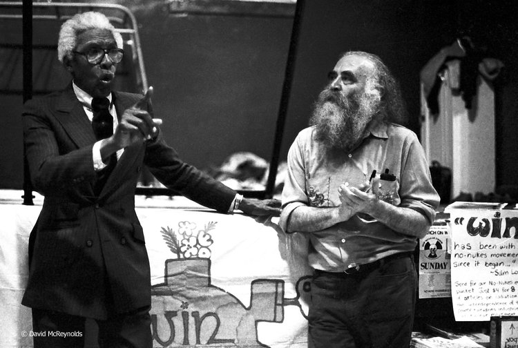 Bayard Rustin with Igal Roodenko. Igal received the 1979 WRL Peace Award.