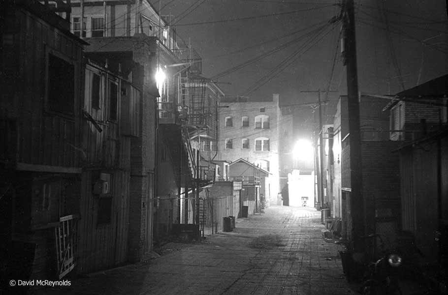 Ashland Avenue alley, where David lived. January 1954