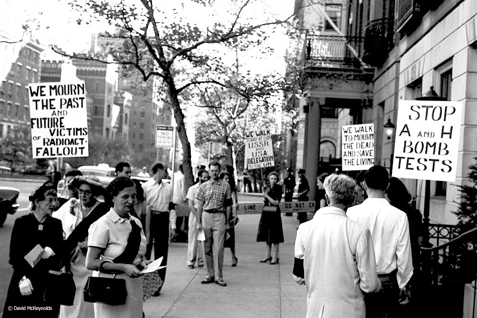 Hiroshima Day protest, August 6, 1957, New York City.
