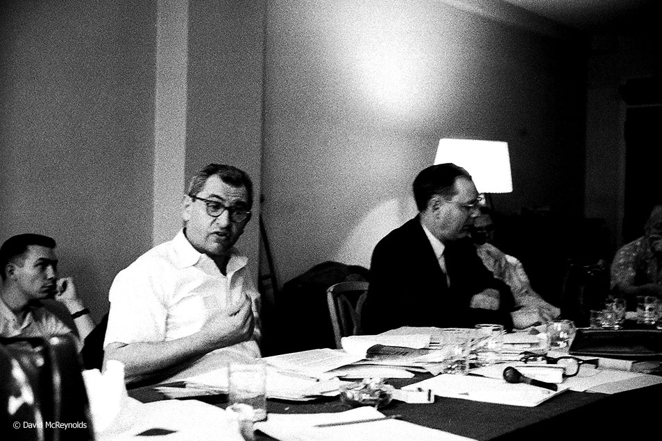 National Executive Committee meeting, Socialist Party, May 25, 1957, New York City. Herman Singer speaking, editor of the  Socialist Call .