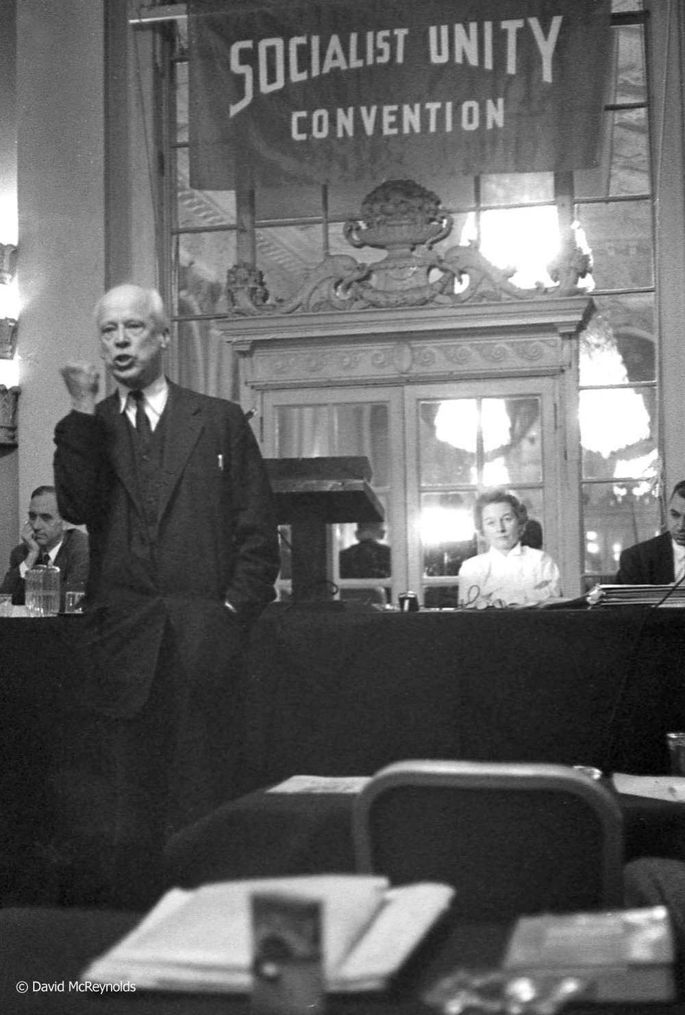 Norman Thomas (SP) speaking at the convention.