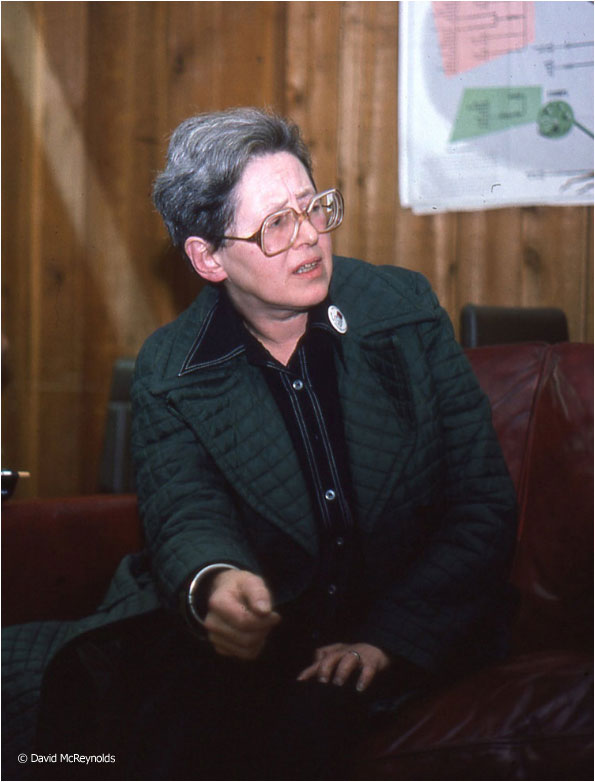Anne Rosenhaft, a former Party National Secretary and close associate of David, October. 1981