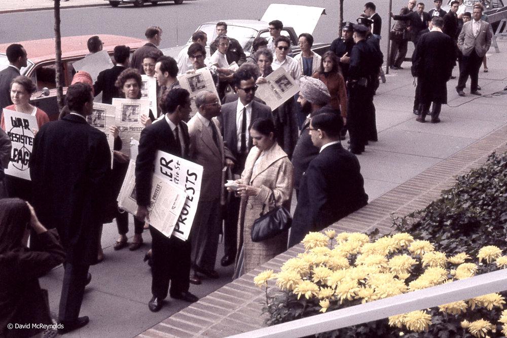 First Demonstration Against Vietnam War