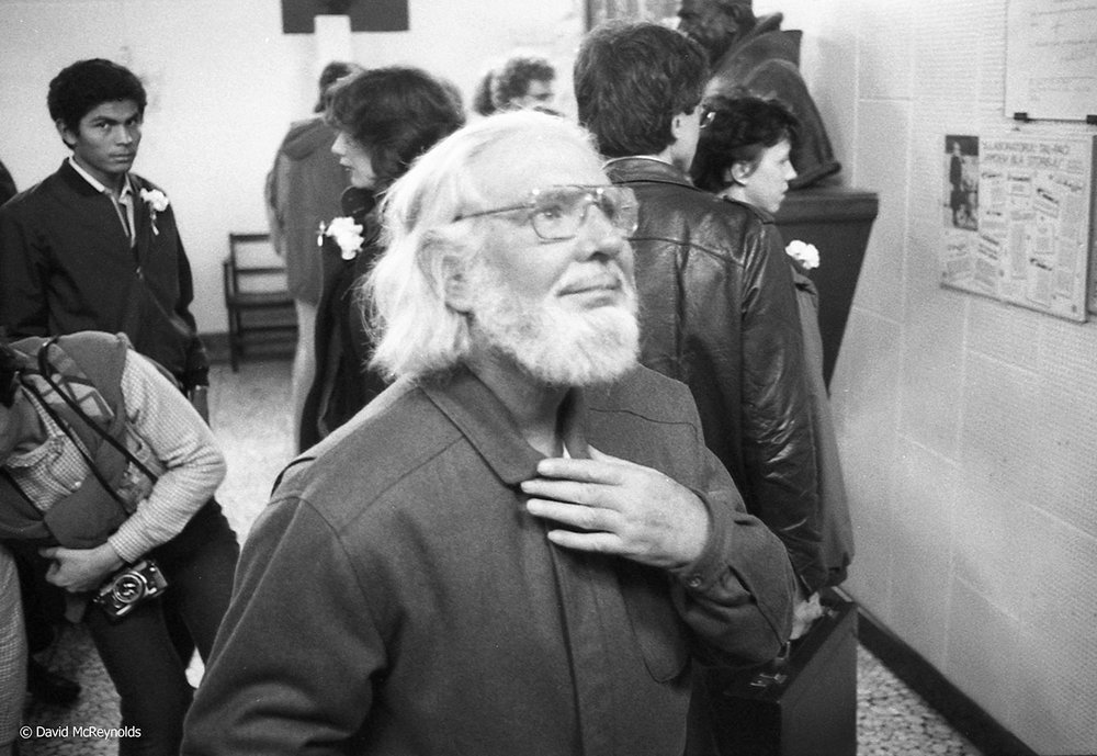 Nicaraguan Catholic priest, poet and politician Ernesto Cardenal, Malta, 1984
