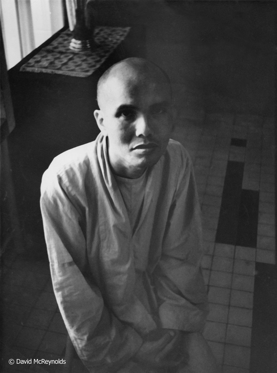 Thích Trí Quang under house arrest in 1966, a leader of the Buddhist opposition to the government of President Ngô Dình Diem. The translator took a big risk taking David and Peggy to meet Thích Trí Quang.