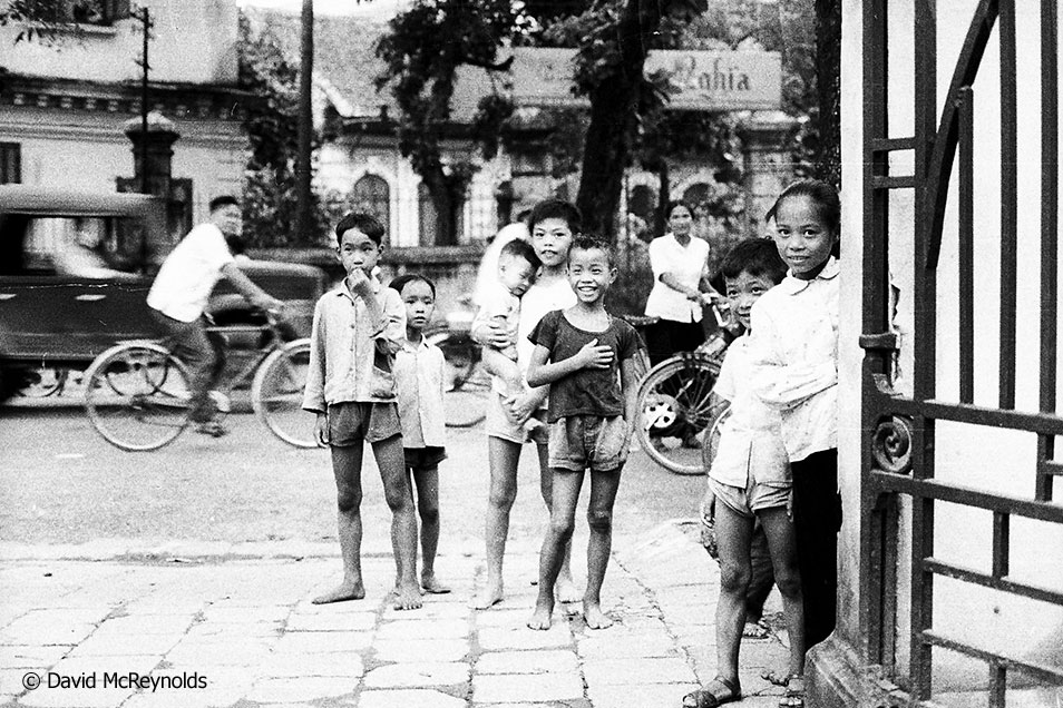 "Today David says, ""The Vietnamese were so welcoming, so friendly, so curious. These shots are heartbreaking. They had four more years of death ahead. "" Hanoi, 1971."