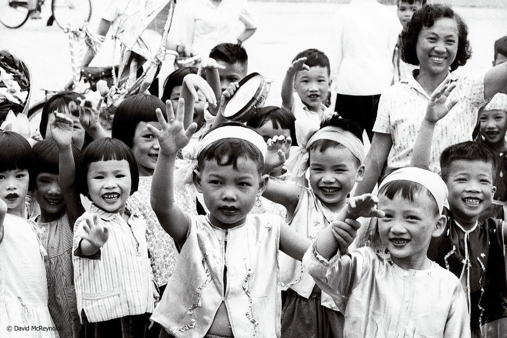Students at youth rally, Hanoi 1971.