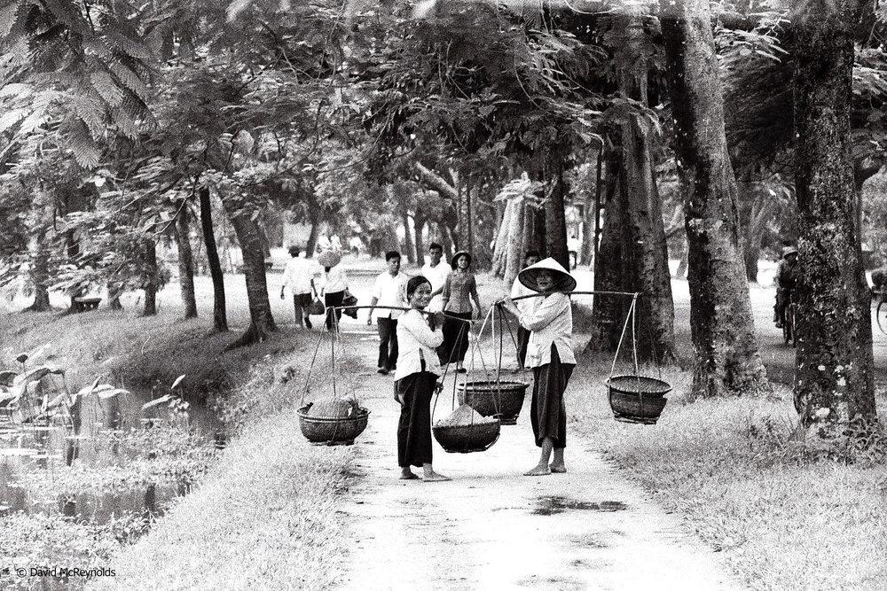 Women in park.Hanoi, 1971.