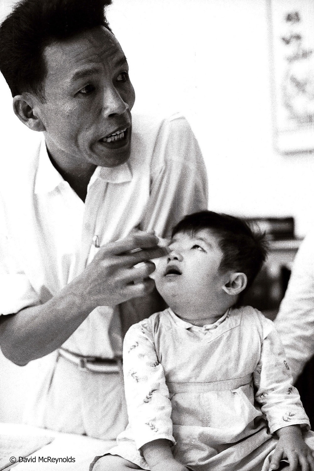 Child deformed by agent orange. Hanoi, 1971.