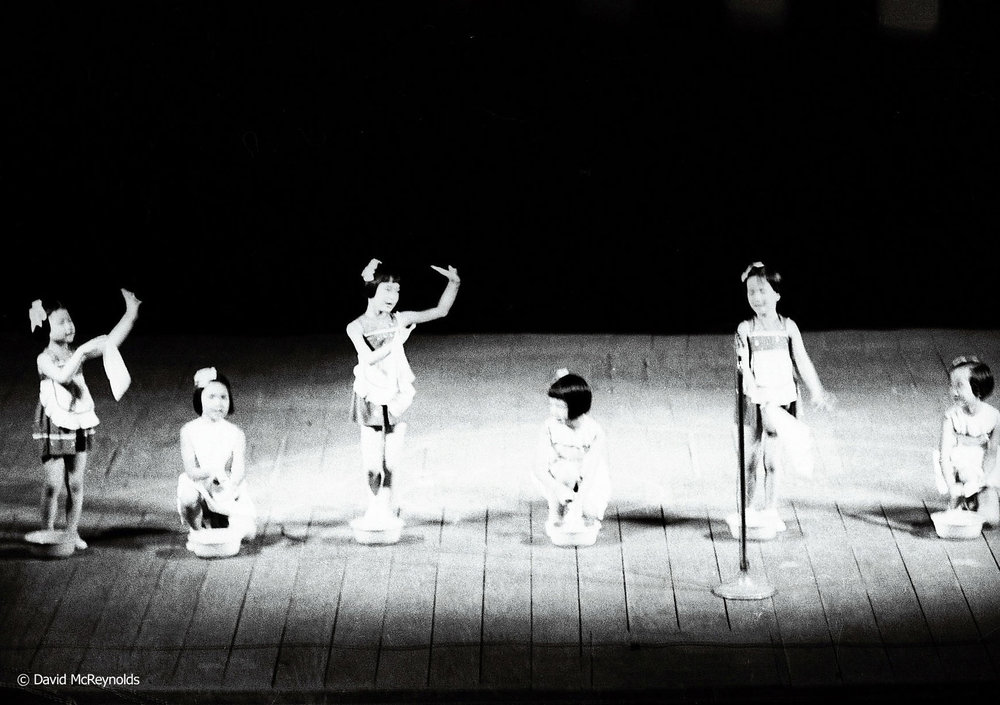 Members of the Children's Show troupe, Hanoi 1971.
