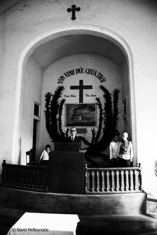Christian church in Hanoi, 1981.