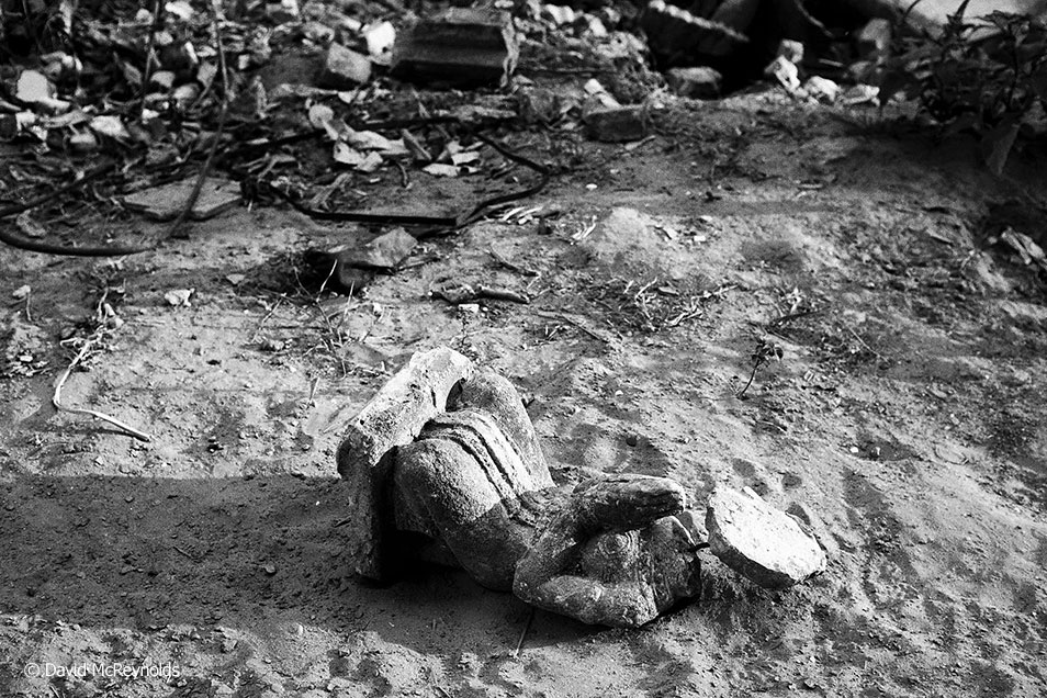 War damage was still widespread in Cambodia in 1981.