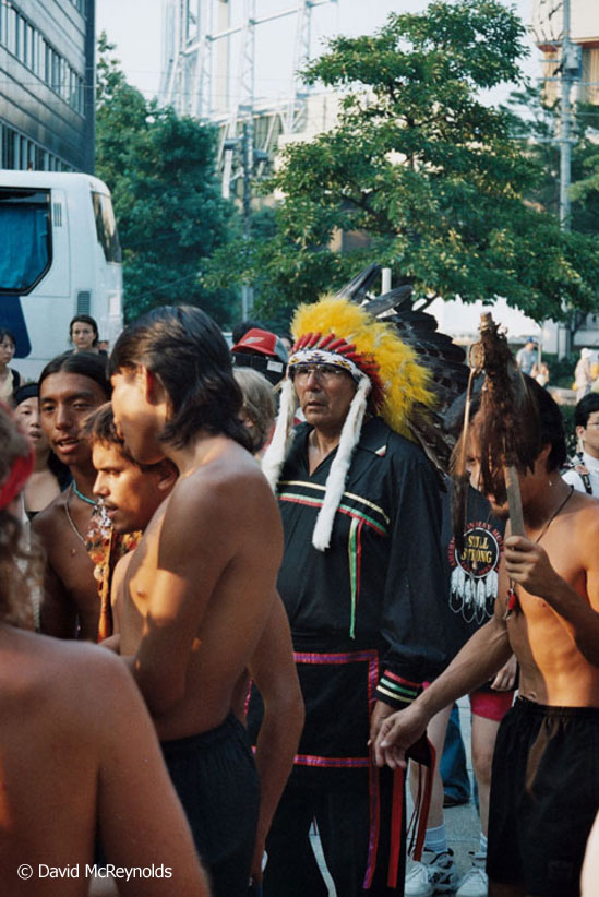 American Indian Movement (AIM) at the 1995 commemoration ceremonies in Hiroshima.