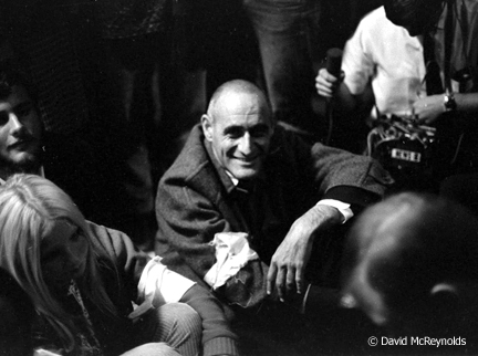 Ira Sandperl during the Oakland Draft Board Sit-In Oct 1967.