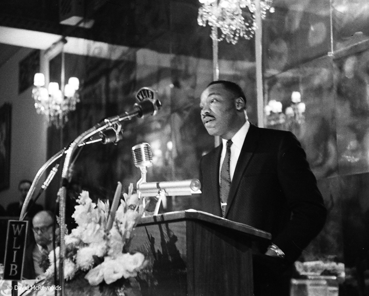 Martin L. King was the keynote speaker at the 1959 WRL peace award dinner honoring AJ Muste.