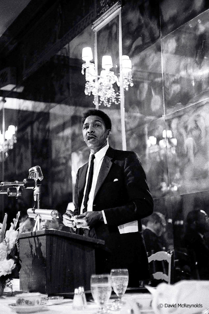 Bayard Rustin at the 1959 WRL peace award dinner honoring AJ Muste.
