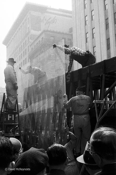 5th Avenue near New York Public Library, 1957.