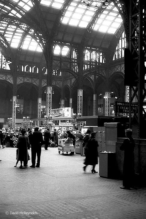 The old Penn Station, NYC, April 1957.