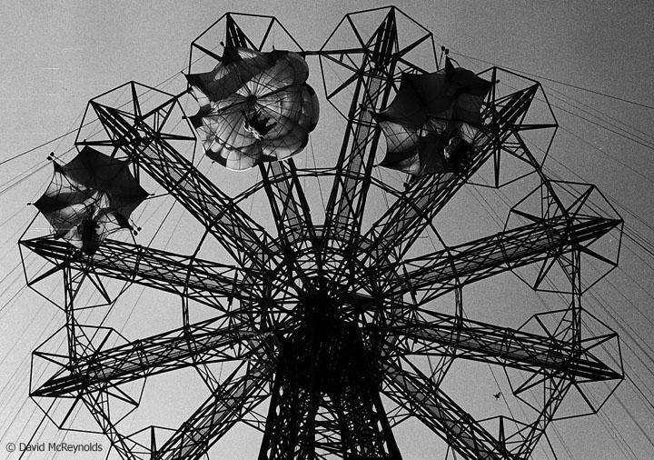 Parachute drop, August 1957.