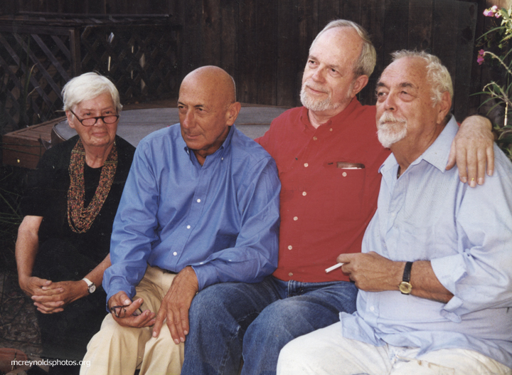 Reunion of old friends, April 1995: Maggie Phair, Harvey Berman, David, Vern Davidson.