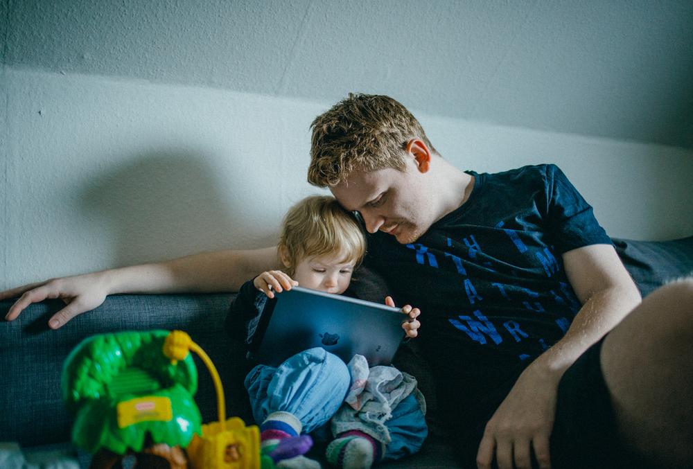 Lidt far/datter tid før sengetid