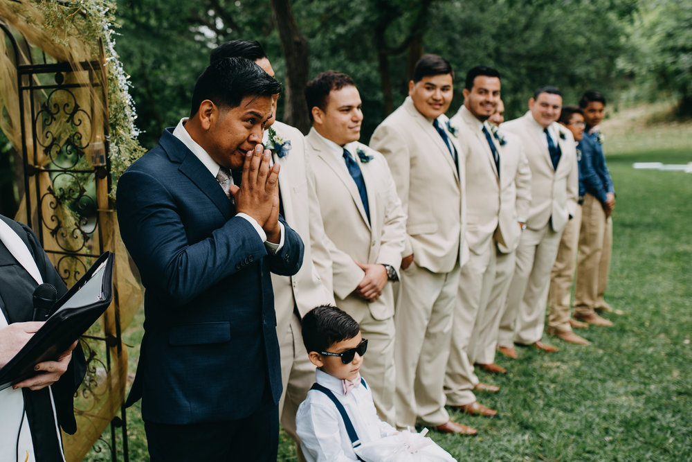 Antonio seeing his bride Megan - Christoval, Texas
