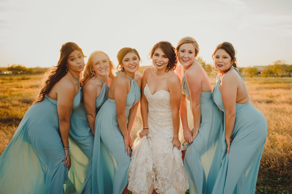 Zandra with her bridesmaids - San Angelo, Texas