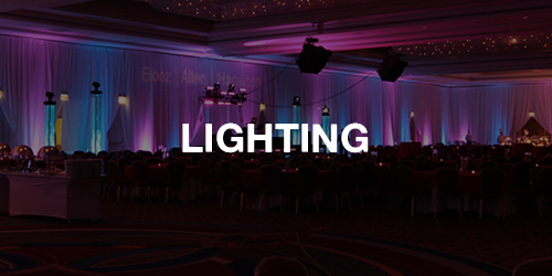 We have a dedicated team of lighting specialists to make sure your vision is executed perfectly.  >> LEARN MORE