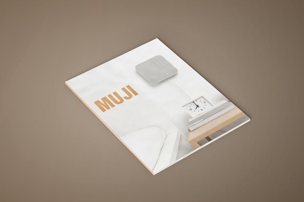 MUJI   a magazine designed with Muji's brand values