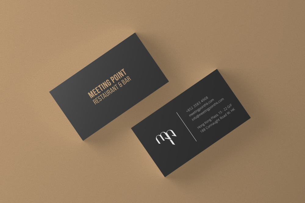 Meeting Point Restaurant and Bar    a brand identity for a charcoal grilled restaurant