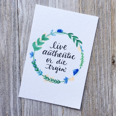 Original hand lettered artwork by Claire Busler