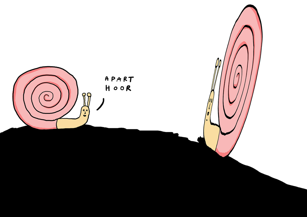 aparte slak  | digitale schets