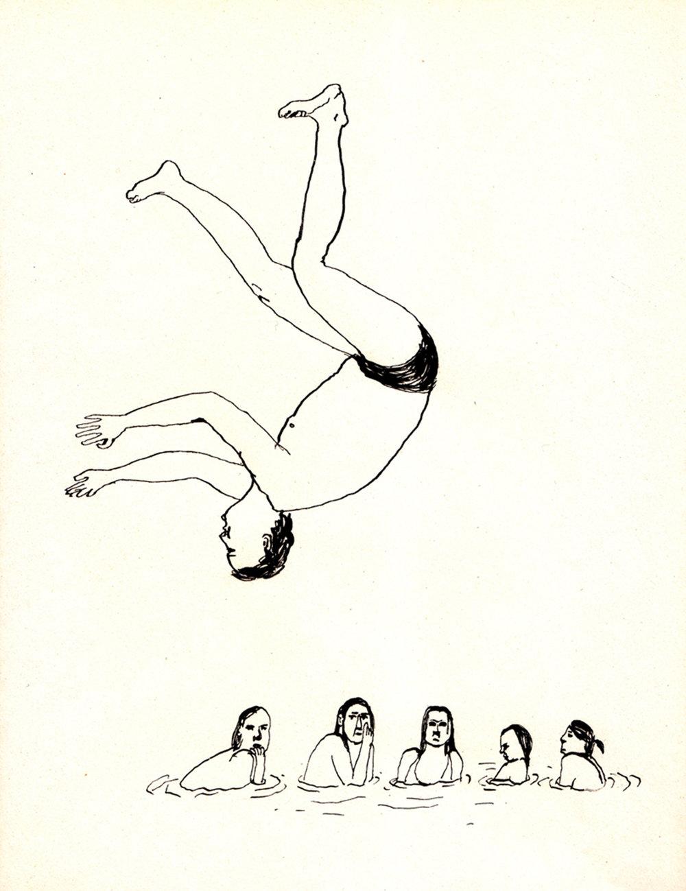 jochem springt   | inkt op papier